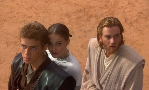 Hayden Christiansen, Nathalie Portman & McGregor  in Star Wars II/ Attack of the Clones