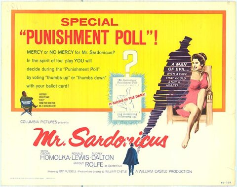 Mr. Sardonicus Bonus Poster