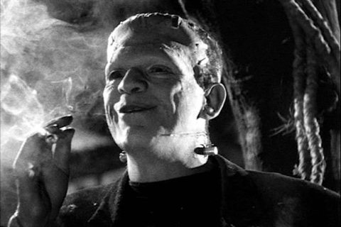#8 PHOTO- Frankenstein smoking