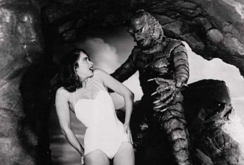 #9 PHOTO Creature From the Black Lagoon & Kay