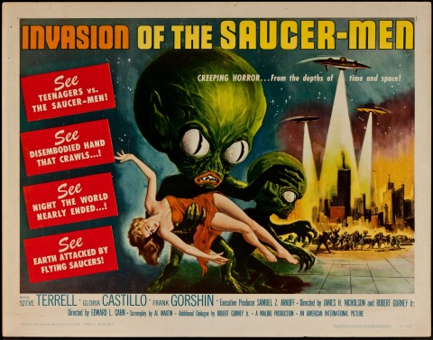 invasion of the saucer men poster